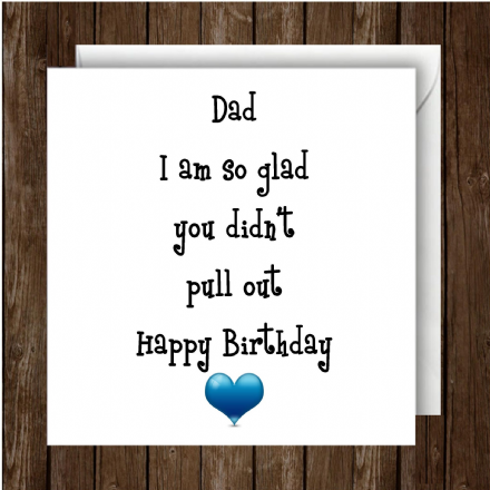 Humour Greeting Card for Dad/Father